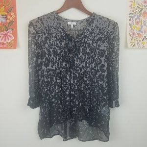 Joie Silk High Low Blouse